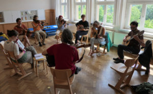 Atelier musique - Music workshop - Photo : Ludovic Roussille